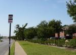 Bus stop+ street